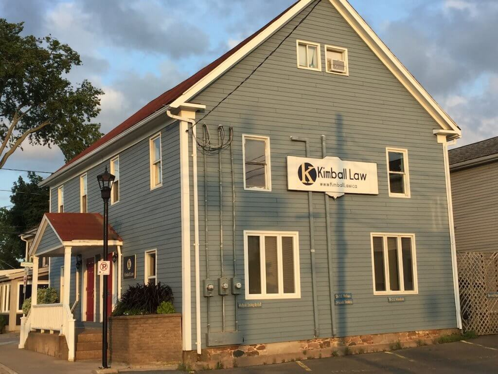 Kimball Law Office Building in Wolfville, NS