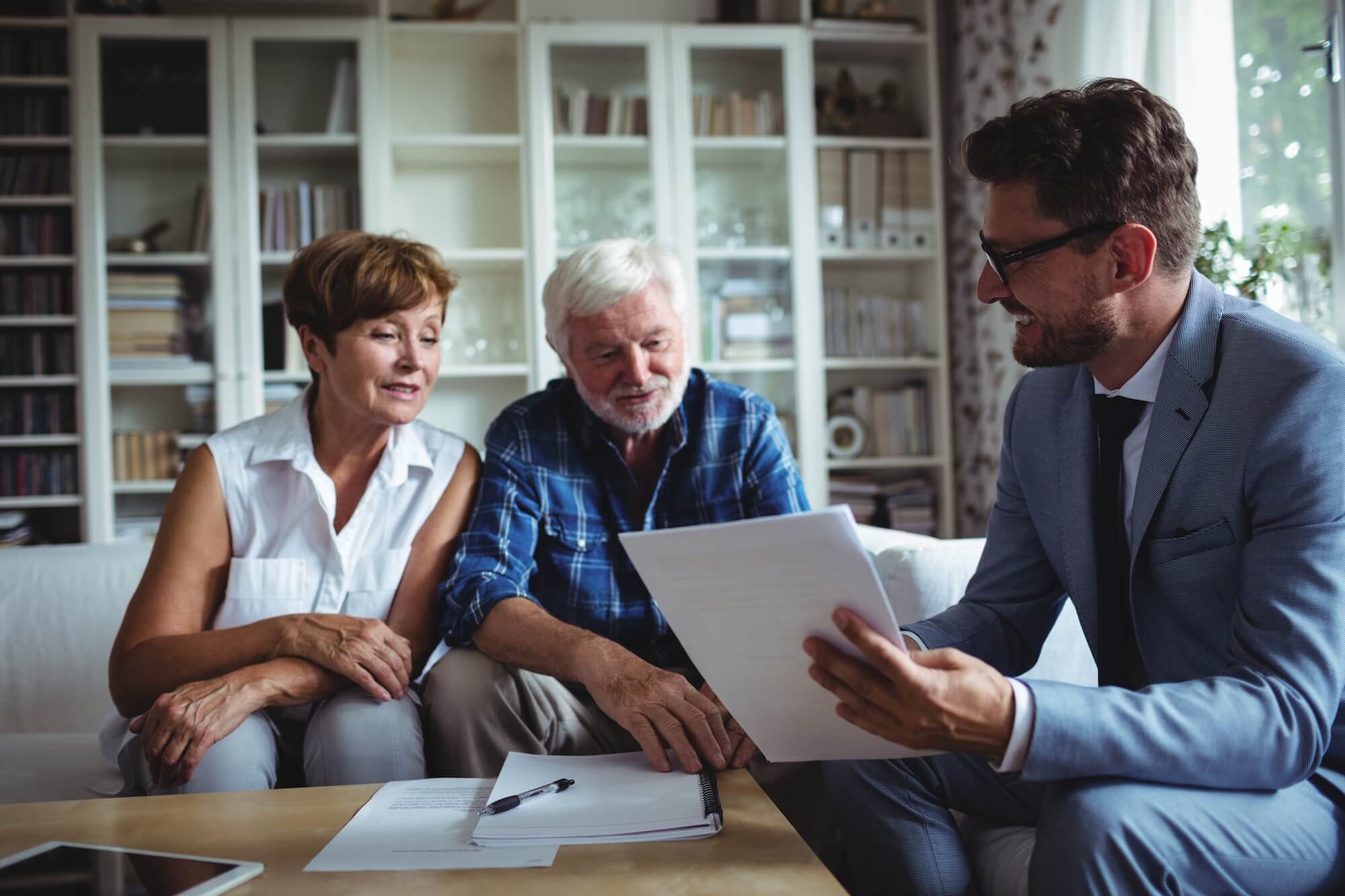 Estate planner with Retired Couple
